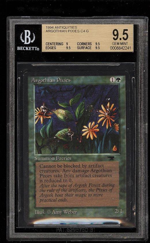 Image of: 1994 Magic The Gathering MTG Antiquities Argothian Pixies C4 G BGS 9.5 (PWCC)