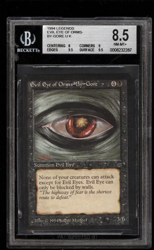Image of: 1994 Magic The Gathering MTG Legends Evil Eye Of Orms-By-Gore U K BGS 8.5 (PWCC)