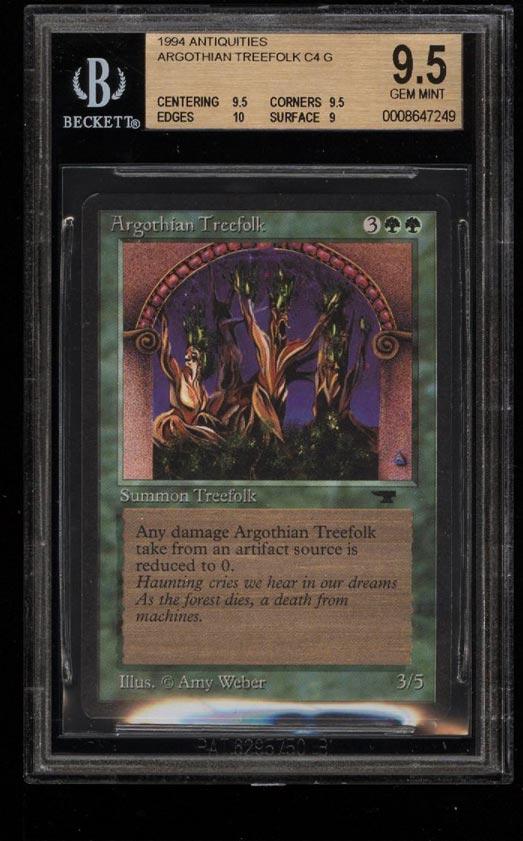 Image of: 1994 Magic The Gathering MTG Antiquities Argothian Treefolk C4 G BGS 9.5 (PWCC)