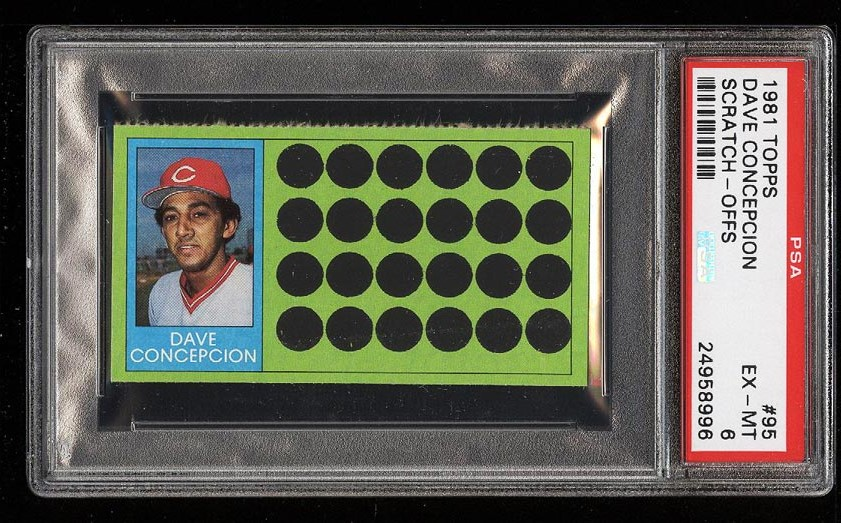 Image of: 1981 Topps Scratch-Offs Dave Concepcion #95 PSA 6 EXMT (PWCC)