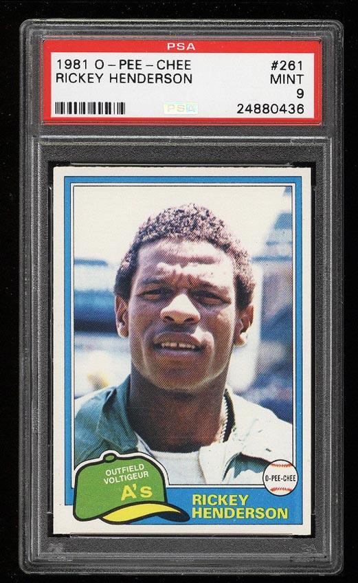 Image of: 1981 O-Pee-Chee Rickey Henderson #261 PSA 9 MINT (PWCC)