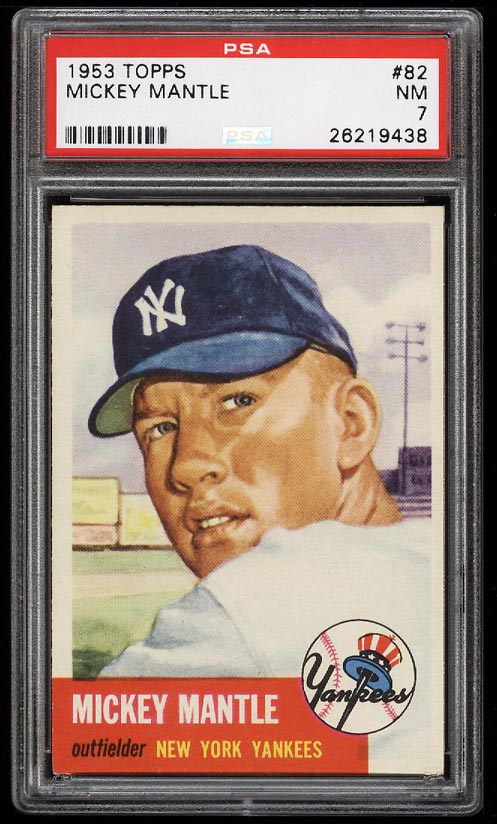 Image of: 1953 Topps Mickey Mantle SHORT PRINT #82 PSA 7 NRMT (PWCC-HE)