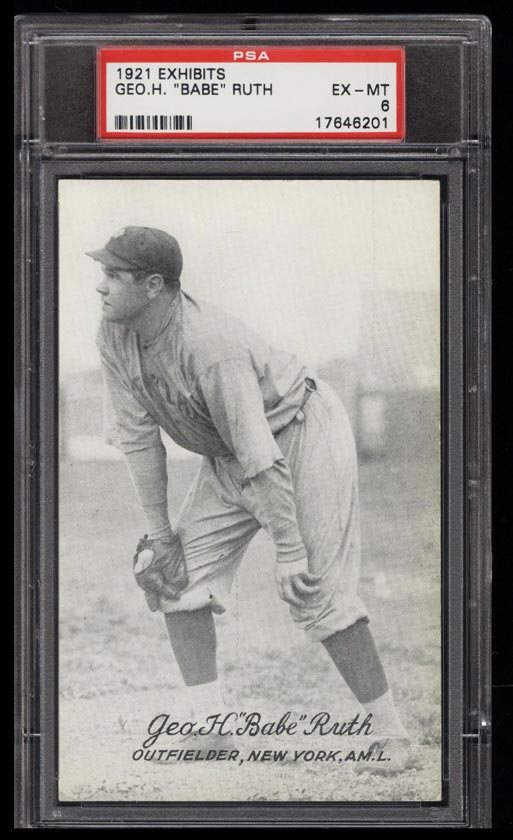 Image of: 1921 Exhibits Babe Ruth PSA 6 EXMT (PWCC)