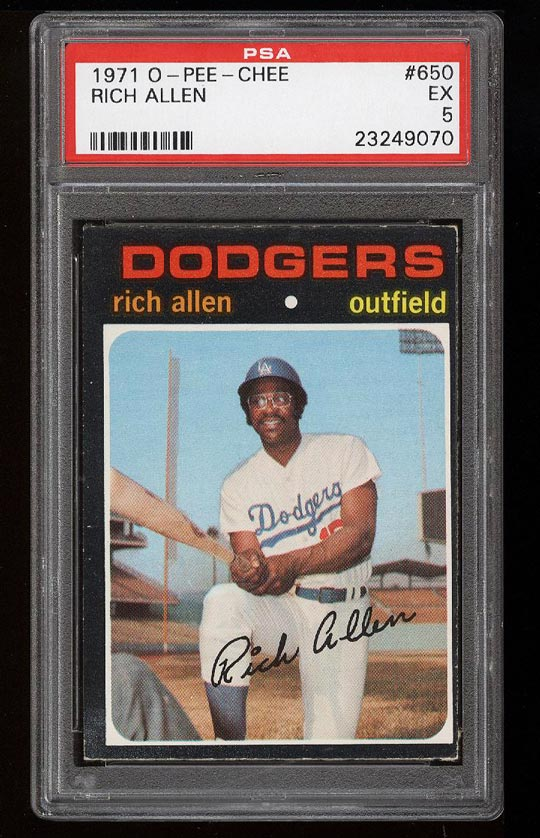 Image of: 1971 O-Pee-Chee Rich Allen #650 PSA 5 EX (PWCC)