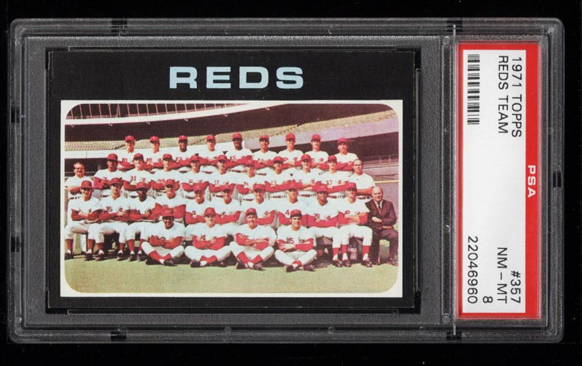 Image of: 1971 Topps Reds Team #357 PSA 8 NM-MT (PWCC)