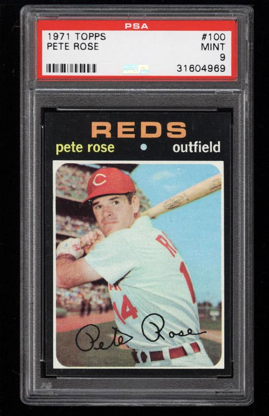 Image of: 1971 Topps Pete Rose #100 PSA 9 MINT (PWCC)
