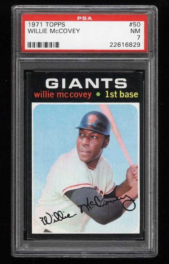 Image of: 1971 Topps Willie McCovey #50 PSA 7 NRMT (PWCC)