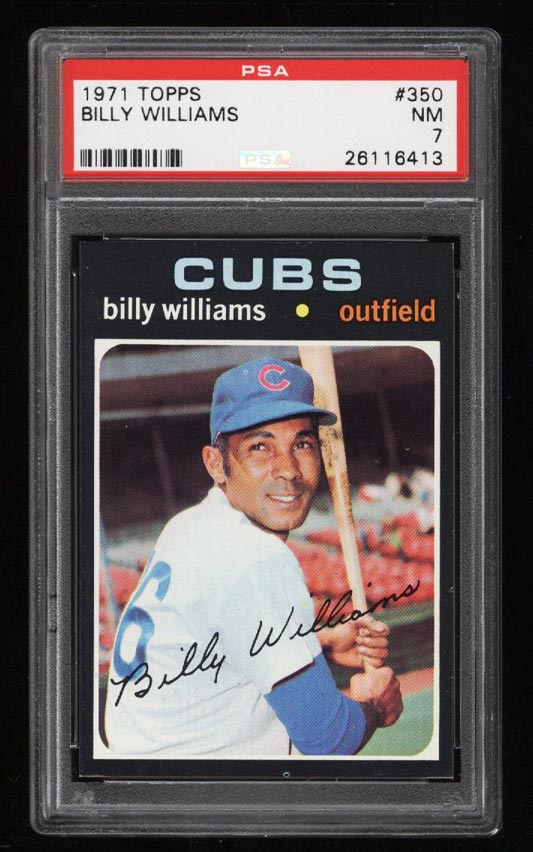 Image of: 1971 Topps Billy Williams #350 PSA 7 NRMT (PWCC)