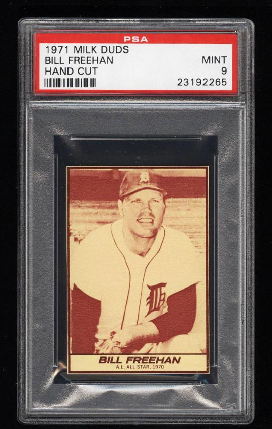 Image of: 1971 Milk Duds Bill Freehan PSA 9 MINT (PWCC)
