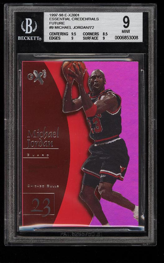 Image of: 1997 Skybox E-X2001 Essential Credentials Future Michael Jordan /72 BGS 9 (PWCC)