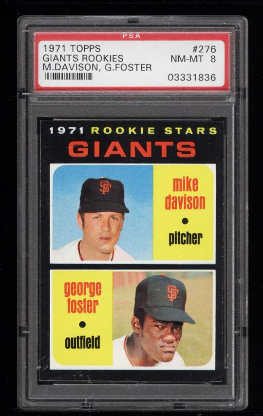 Image of: 1971 Topps George Foster ROOKIE RC #276 PSA 8 NM-MT (PWCC)