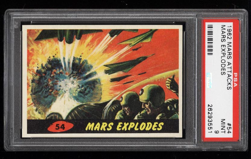 Image of: 1962 Topps Mars Attacks Mars Explodes #54 PSA 9 MINT (PWCC)