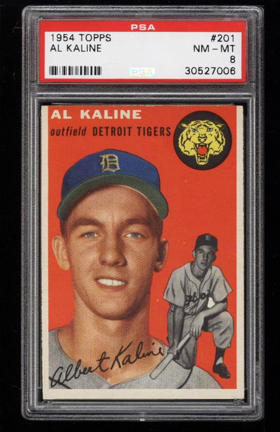 Image of: 1954 Topps Al Kaline ROOKIE RC #201 PSA 8 NM-MT (PWCC)