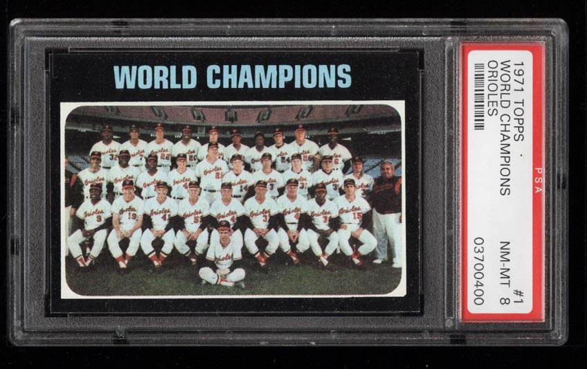 Image of: 1971 Topps World Champions #1 PSA 8 NM-MT (PWCC)