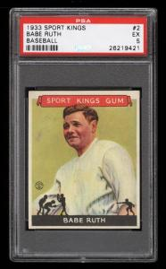 Image of: 1933 Goudey Sport Kings Babe Ruth #2 PSA 5 EX (PWCC-HE)