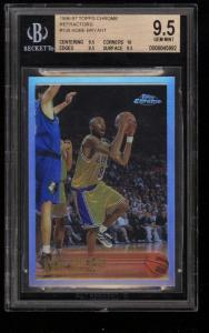 Image of: 1996 Topps Chrome Refractors Kobe Bryant ROOKIE RC #138 BGS 9.5 GEM MINT (PWCC)