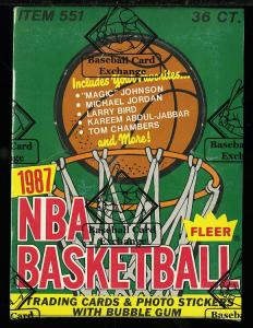 Image of: 1987 Fleer BBall Wax Box, 36ct Packs, Pippen Michael Jordan?, BBCE AUTH (PWCC)