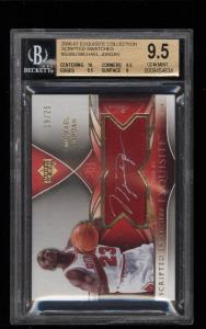 Image of: 2006 Exquisite Collection Scripted Michael Jordan AUTO PATCH /25 BGS 9.5 (PWCC)