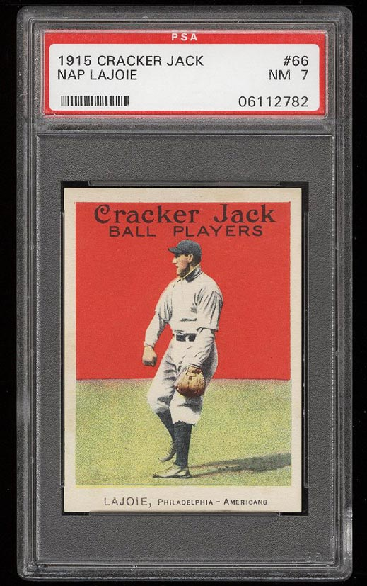 Image of: 1915 Cracker Jack Nap Lajoie #66 PSA 7 NRMT (PWCC)