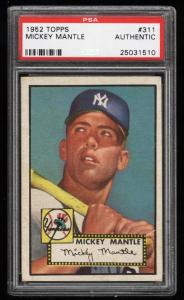 Image of: 1952 Topps Mickey Mantle #311 PSA Authentic, GD+/VG (PWCC)