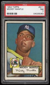 Image of: 1952 Topps Mickey Mantle #311 PSA 7 NRMT (PWCC)