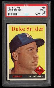 Image of: 1958 Topps Duke Snider #88 PSA 9 MINT (PWCC)