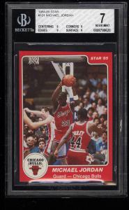Image of: 1984-85 Star Basketball Michael Jordan ROOKIE RC #101 BGS 7 NRMT (PWCC)