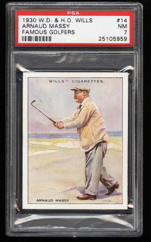 Image of: 1930 WD & HO Wills Famous Golfers Arnaud Massy #14 PSA 7 NRMT (PWCC)