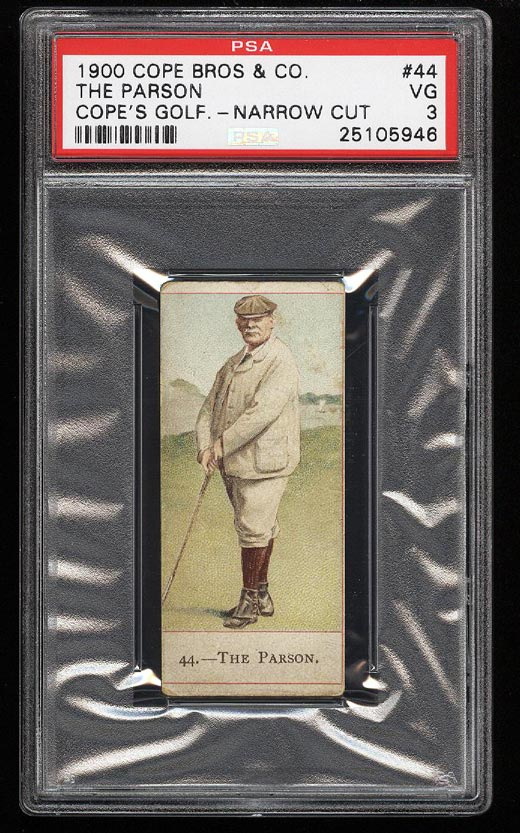 Image of: 1900 Cope Bros Golfers The Parson #44 PSA 3 VG (PWCC)