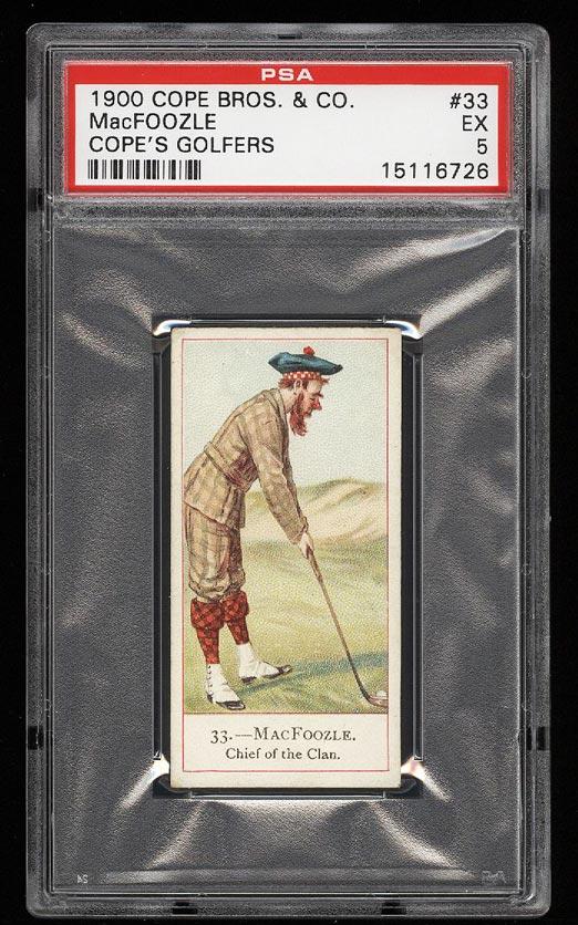 Image of: 1900 Cope Bros Golfers MacFoozle #33 PSA 5 EX (PWCC)