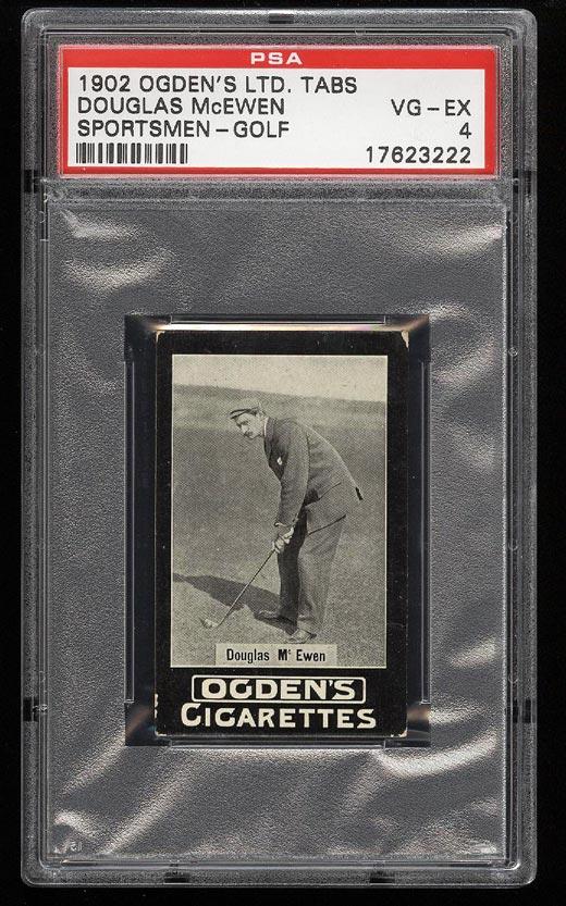 Image of: 1902 Ogden's Sportsmen Golf Douglas McEwen PSA 4 VGEX (PWCC)