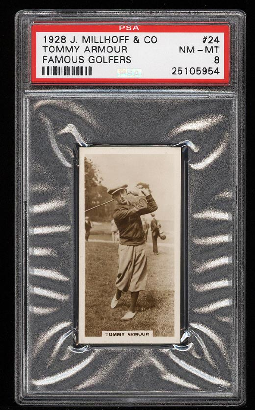Image of: 1928 Millhoff Famous Golfers Tommy Armour #24 PSA 8 NM-MT (PWCC)