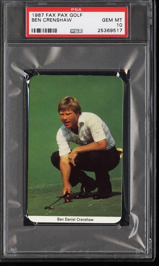 Image of: 1987 Fax Pax Golf Ben Crenshaw PSA 10 GEM MINT (PWCC)