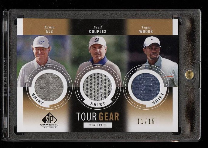 Image of: 2013 SP Game Used Golf Ernie Els Fred Couples Tiger Woods PATCH /15 #CWE (PWCC)