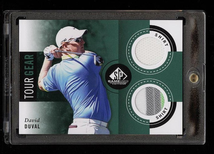 Image of: 2013 SP Game Used Golf David Duval 3-CLR PATCH #TG-DD (PWCC)