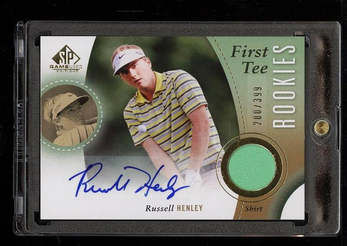Image of: 2013 SP Game Used Golf Russell Henley ROOKIE RC AUTO PATCH /399 #38 (PWCC)