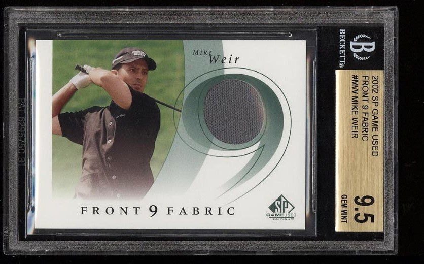 Image of: 2002 SP Game Used Front 9 Fabric Mike Weir PATCH #MW BGS 9.5 GEM MINT (PWCC)