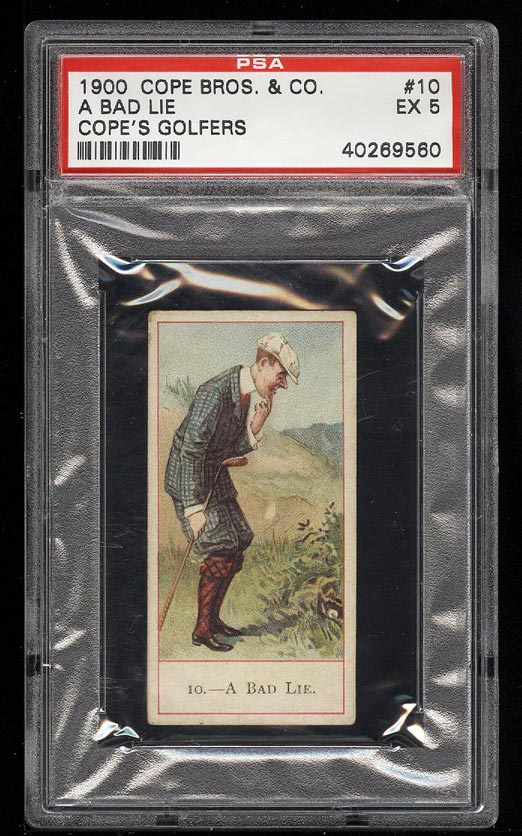 Image of: 1900 Cope Bros Golfers A Bad Lie #10 PSA 5 EX (PWCC)
