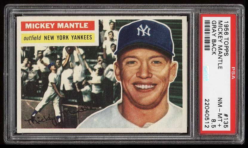 Image of: 1956 Topps Mickey Mantle #135 PSA 8.5 NM-MT+ (PWCC-HE)