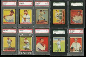 Image of: 1933 Goudey Low-Grd Nr COMPLETE SET Ruth Gehrig Speaker Ott Hornsby, PSA (PWCC)