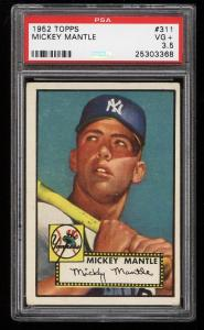 Image of: 1952 Topps Mickey Mantle #311 PSA 3.5 VG+ (PWCC)