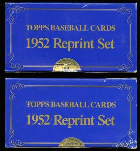 Image of: Lot(2) 1983 Topps 1952 Reprint Factory Sealed Set, Mickey Mantle #311 (PWCC)