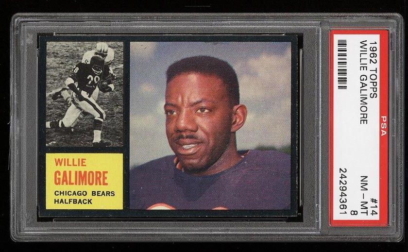 Image of: 1962 Topps Football Willie Galimore #14 PSA 8 NM-MT (PWCC)