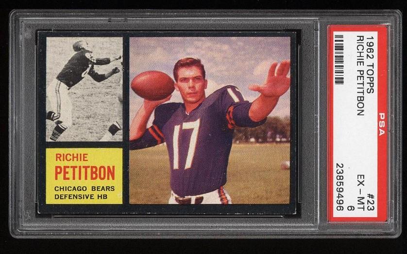 Image of: 1962 Topps Football Richie Petitbon #23 PSA 6 EXMT (PWCC)