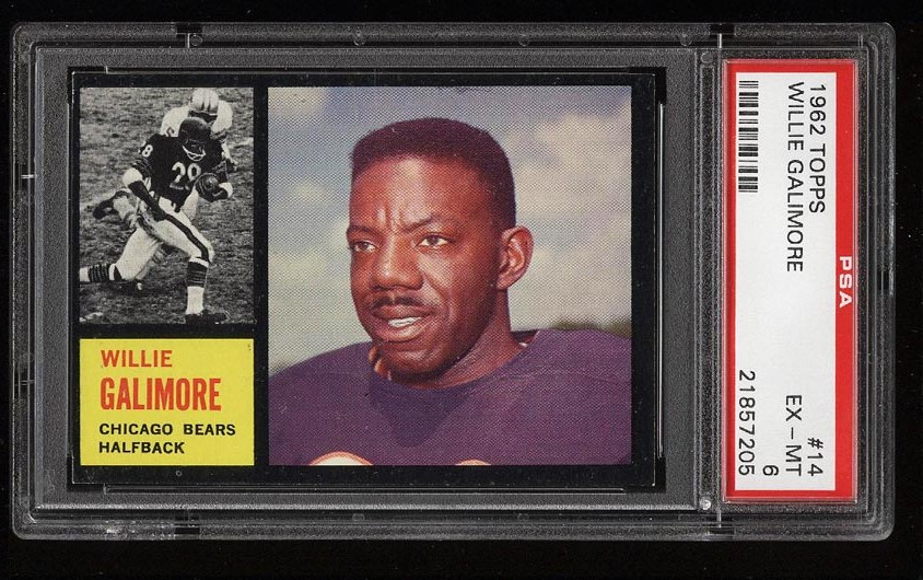 Image of: 1962 Topps Football Willie Galimore #14 PSA 6 EXMT (PWCC)