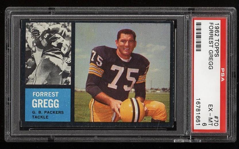 Image of: 1962 Topps Football Forrest Gregg #70 PSA 6 EXMT (PWCC)