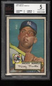Image of: 1952 Topps Mickey Mantle #311 BVG 5 EX (PWCC)