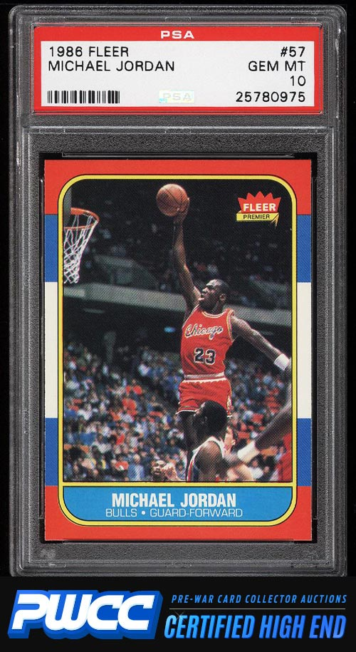 1986 Fleer Basketball Michael Jordan ROOKIE RC #57 PSA 10 GEM MINT (PWCC-HE)