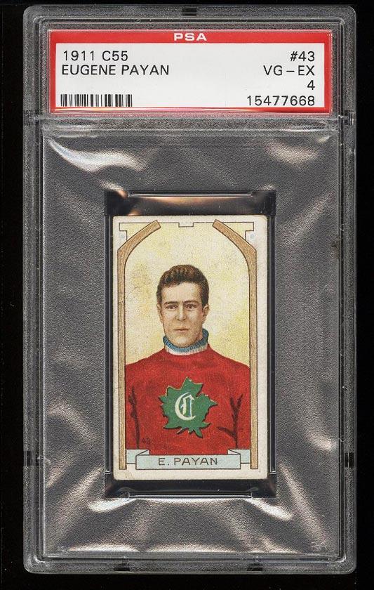 Image of: 1911 C55 Hockey Eugene Payan #43 PSA 4 VGEX (PWCC)