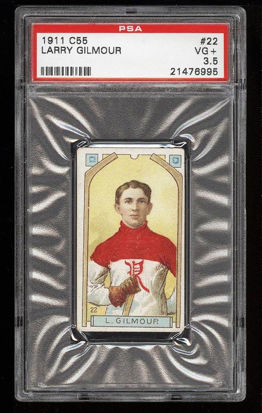 Image of: 1911 C55 Hockey Larry Gilmour #22 PSA 3.5 VG+ (PWCC)